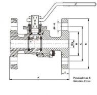 SV54N PN16 Stainless Steel Dimension Diagram