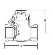 Bronze Swing Check Valve PN20 Dimension Diagram