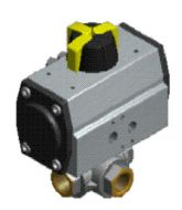 Pneumatic L and T Port Ball Valve