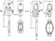 Electric Operated Wafer Butterfly Valve Pressure/Temperature Graph