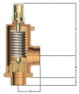G55 Safety Relief Valve Dimension Diagram