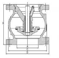 Fig402 Check Valve Dimension Diagram