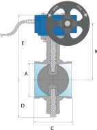 Grooved End Butterfly Valve Dimension Diagram
