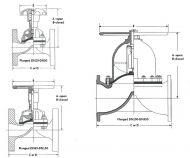 Saunders A Type Flanged Rubber Dimension Diagram