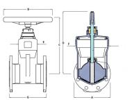 Resilient Seated Gate Valve PN16 Dimension Diagram