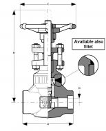 Gate Valve Class 1500 Dimension Diagram